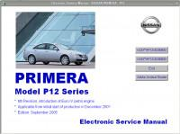 Electronic Service Manual Nissan Primera P12.