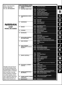 Service Manual Nissan Leaf 2011-2014 г.