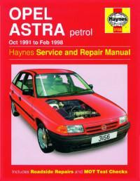 Service and Repair Manual Opel Astra 1991-1998 г.