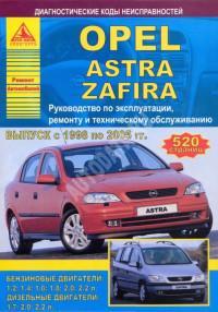 Руководство по эксплуатации, ремонту и ТО Opel Astra 1998-2005 г.