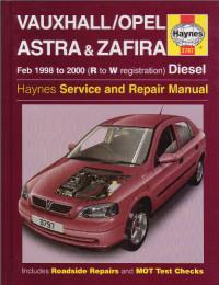 Service and Repair Manual Opel Astra 1998-2000 г.