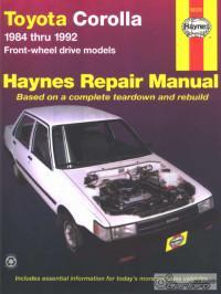 Haynes Repair Manual Toyota Corolla 1984-1992 г.