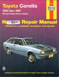 Haynes Repair Manual Toyota Corolla 1980-1987 г.