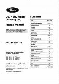 Repair Manual Ford Fiesta 2007 г.