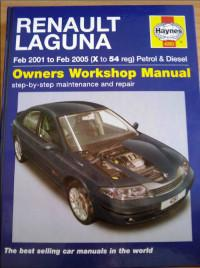 Owners Workshop Manual Renault Laguna 2001-2005 г.