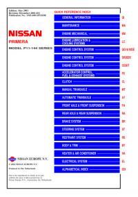 Service Manual Nissan Primera P11.