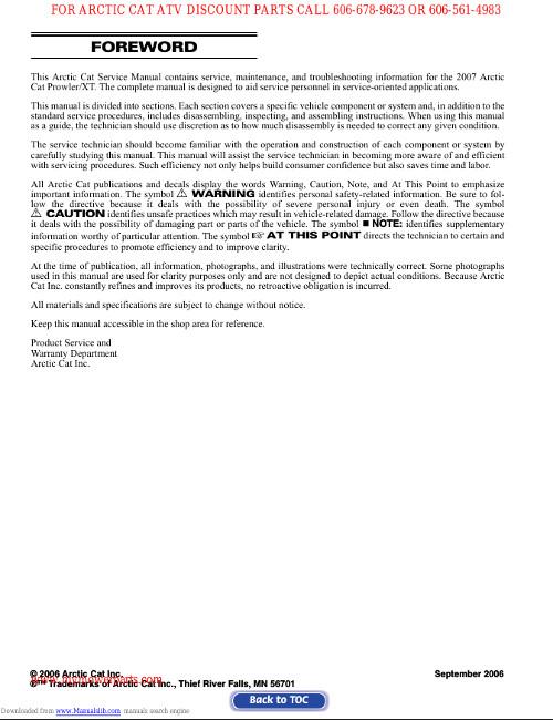 arctic cat prowler owners manual pdf