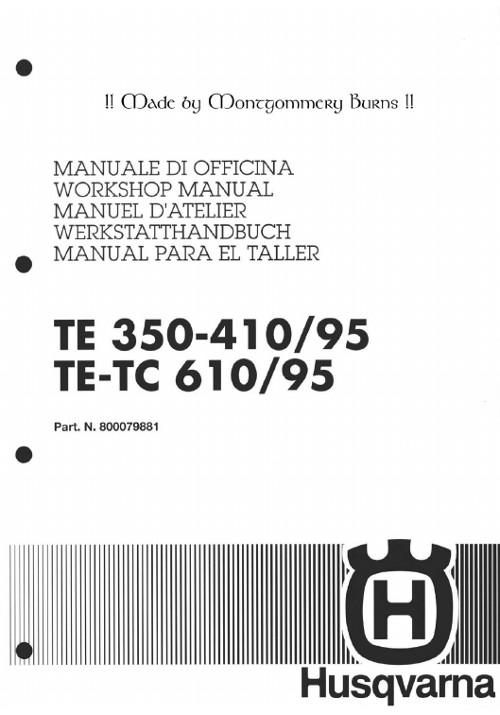 husqvarna te350 te410 te610 tc610 pdf