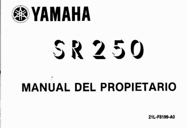 Yamaha 250 Инструкция Обслуживание