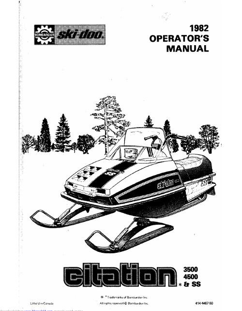 Снегоходы ski doo инструкция