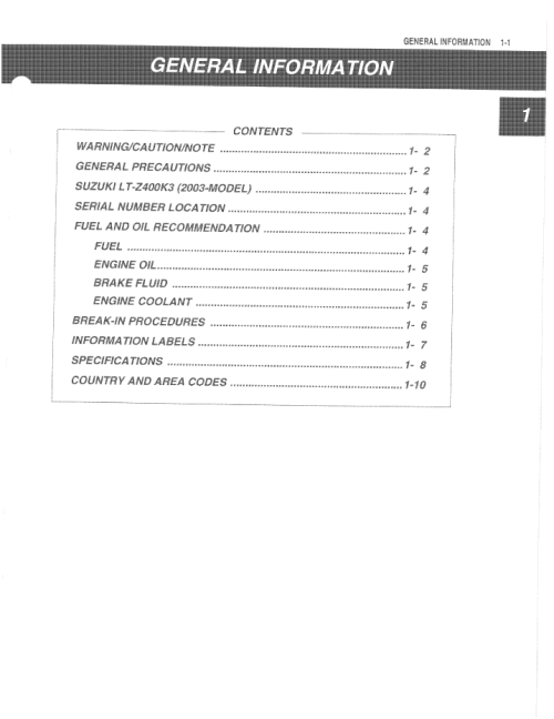 Suzuki Ltzservice Manual Pdf