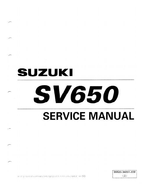 2017 suzuki sv650 service manual pdf
