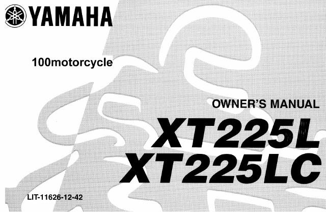 2007 yamaha xt225 service manual