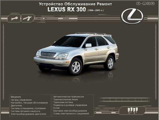 Скачать инструкция lexus rx300