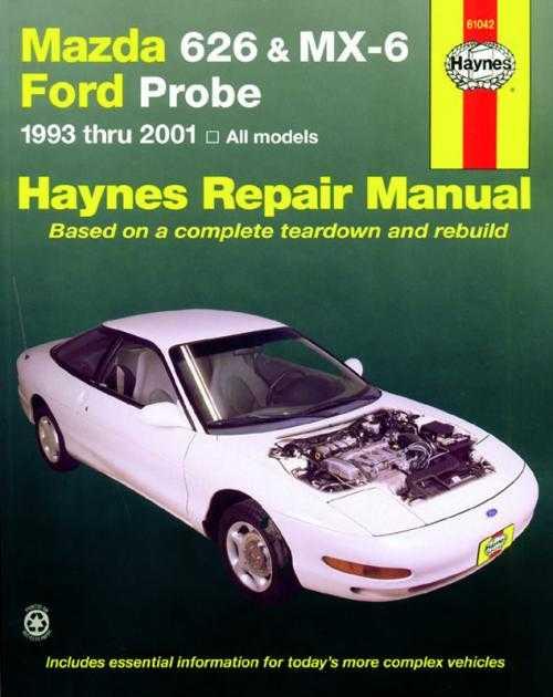 Mazda 626 gd-ge-mx6-probe-telstar sedan-coupe workshop manual.