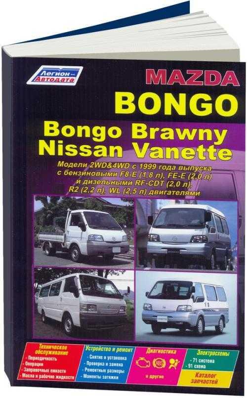 Руководство по эксплуатации mazda bongo
