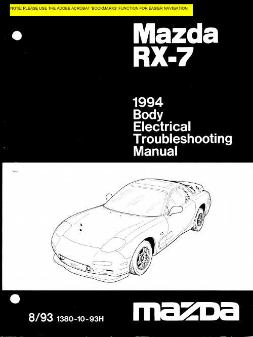 mazda rx7 competition manual