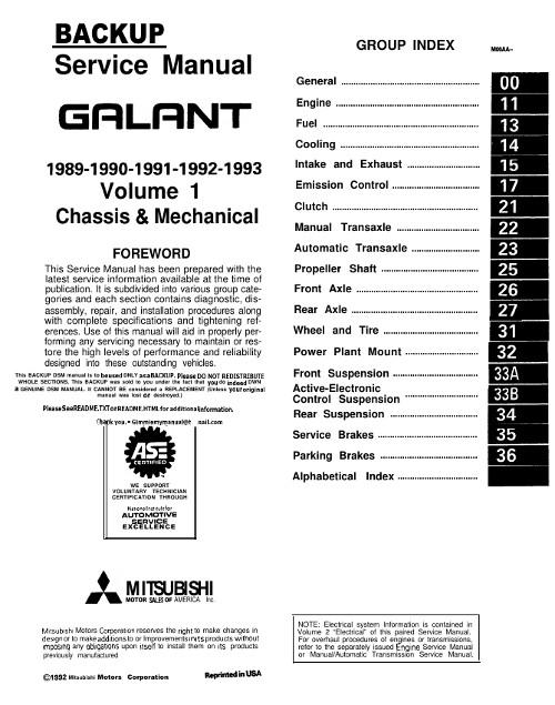 митсубиси галант 1989 ремонт