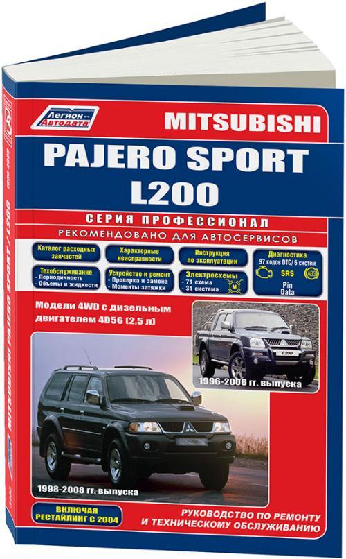 руководство по ремонту mitsubishi pajero 2 скачать бесплатно
