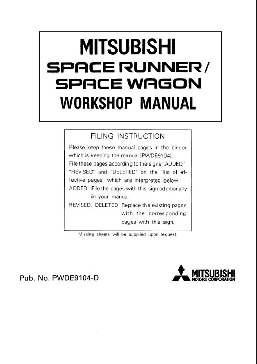 mitsubishi grandis workshop manual pdf