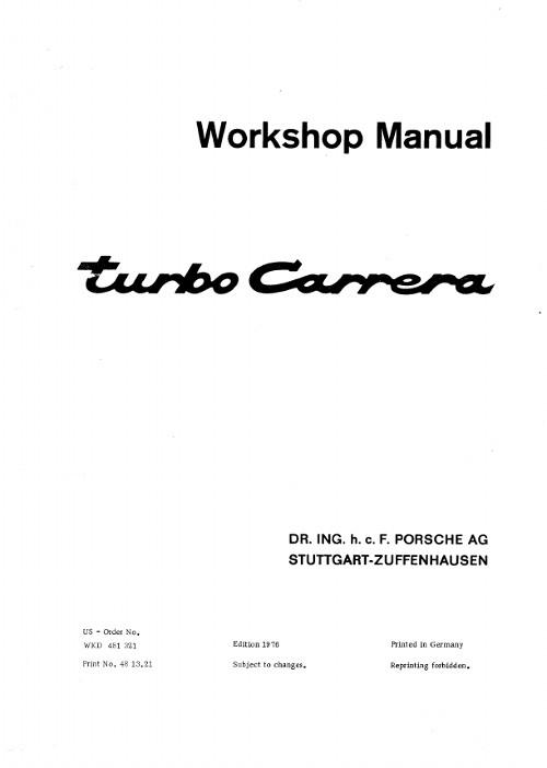 porsche 964 service manual
