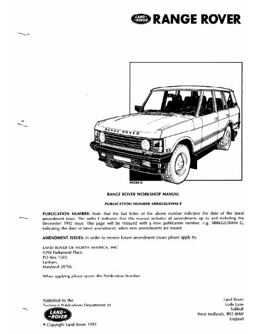 Range Rover Evoque Workshop Manual Pdf