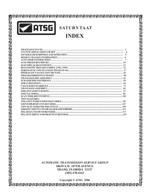 Инструкция по эксплуатации и руководство по ремонту Saturn